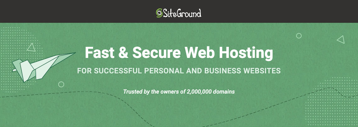 SiteGround offers fast and secure website hosting!